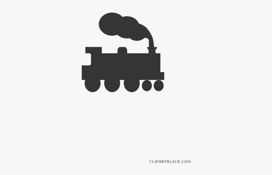 Silhouette Clipart Train, Transparent Clipart