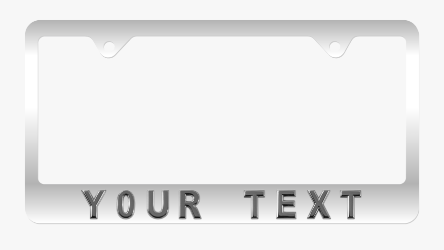 Personalize Your Own License Plate Frame - Parallel, Transparent Clipart