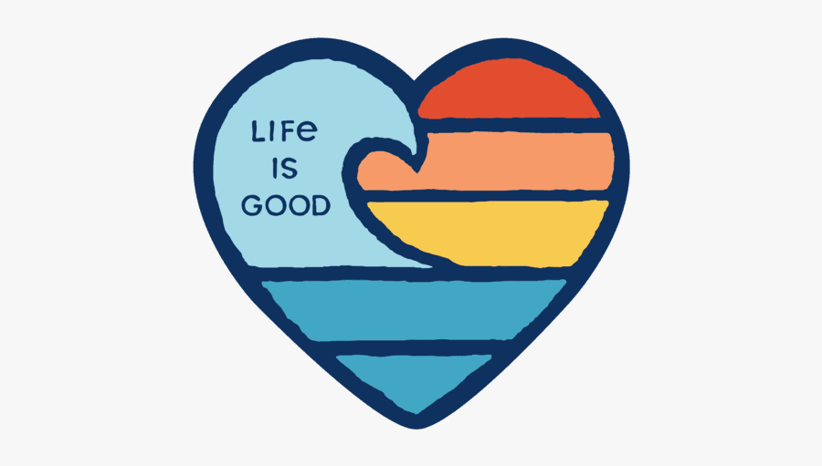 Life Is Good Wave Sticker, Transparent Clipart