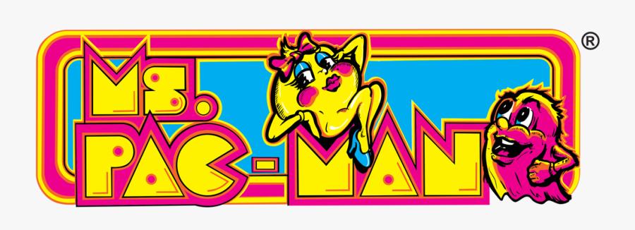 Ms Pac Man Arcade Marquee, Transparent Clipart