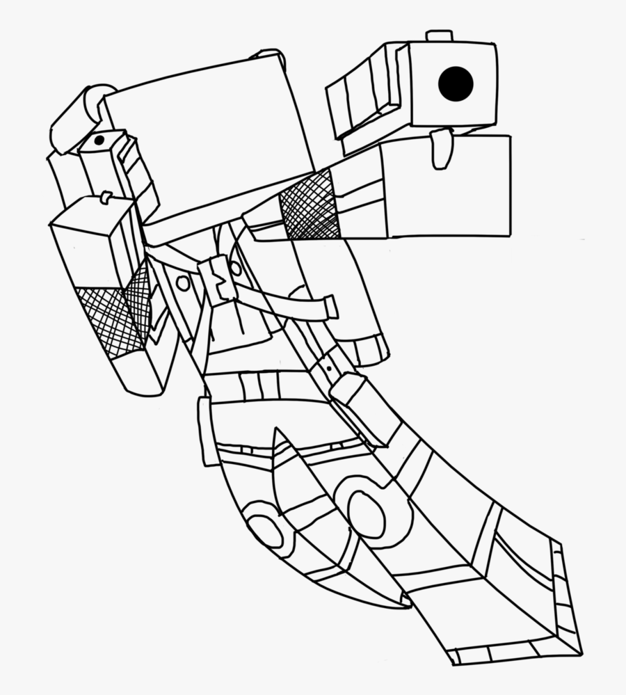 Minecraft Skin Coloring Page Free Download - Minecraft Skins Coloring Pages, Transparent Clipart