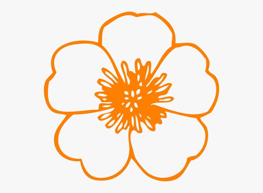 Orange Flower Clip Art At Clker, Transparent Clipart