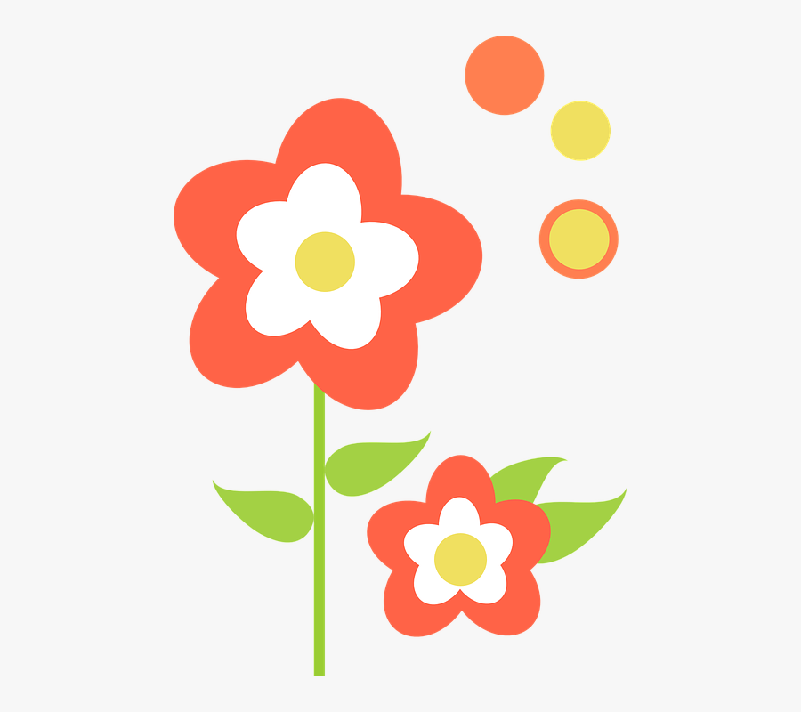 Leaf, Flowers, Orange, Floral, Blossom, Flora - Gambar Kartun Bunga File Png, Transparent Clipart