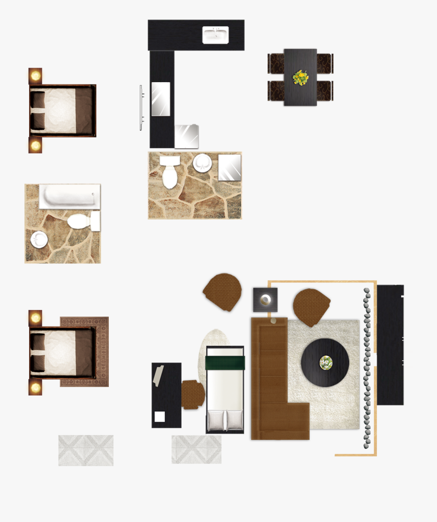 And Floor House Chart Services Design Plan Clipart - Furniture Png Top View, Transparent Clipart