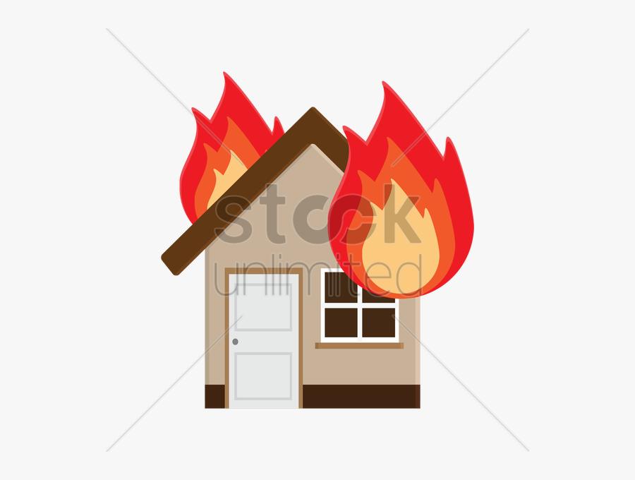 Burning House Cartoon - House Burning Down Cartoon, Transparent Clipart