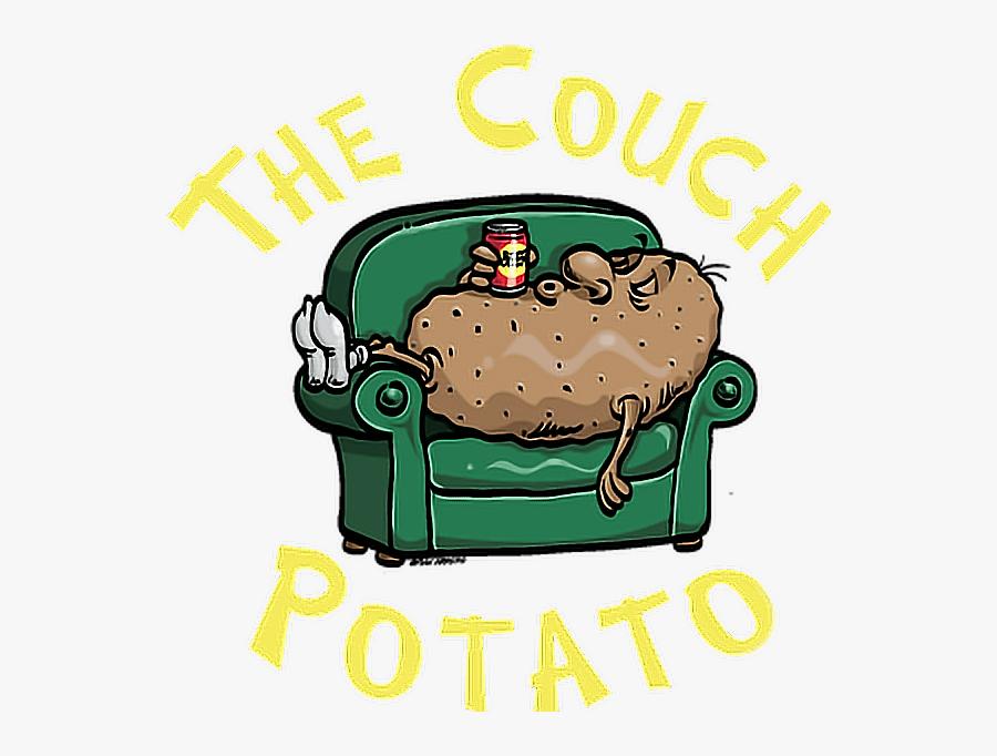 #couch #potato #couchpotato #lazy #lazyday #me #mood - Couch Potato Logo, Transparent Clipart
