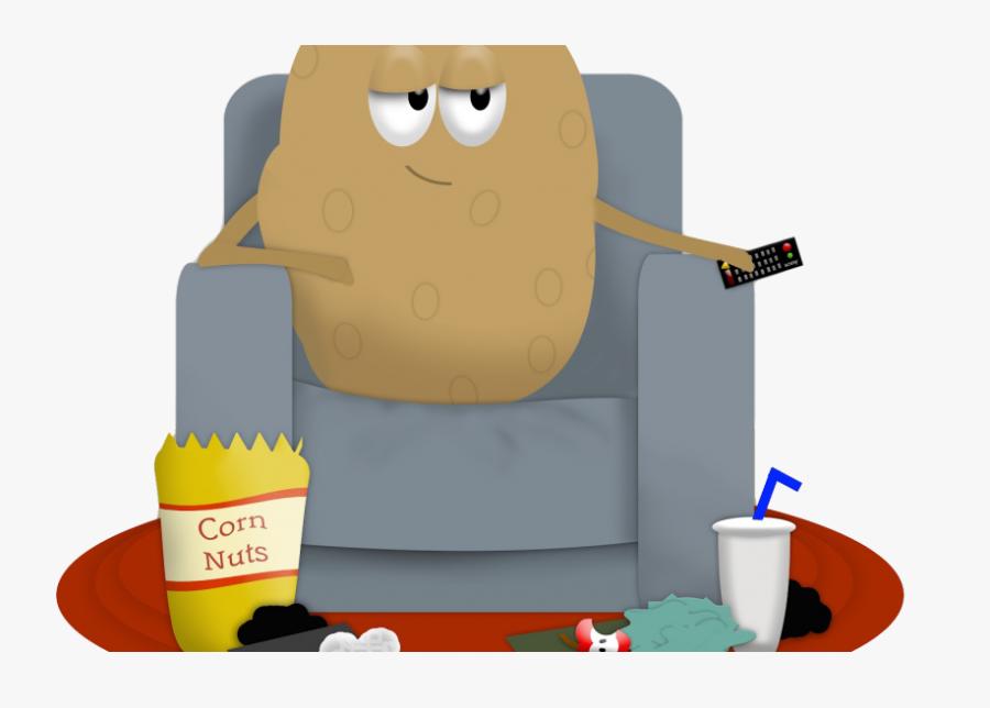 Transparent Cartoon Couch Png - Couch Potato Png, Transparent Clipart