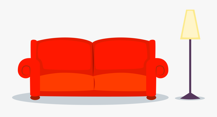 Transparent Couch Chair Cartoon - Cartoon Couch Png, Transparent Clipart