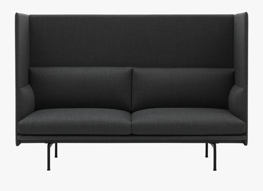Transparent Black Couch Png - Studio Couch, Transparent Clipart