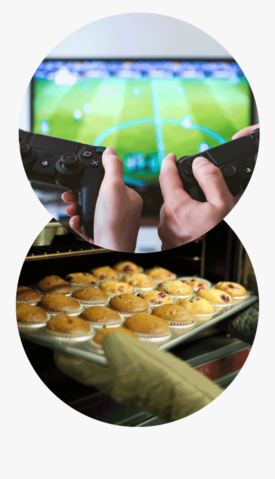 Two Sets Of Hands Hold Playstation Controllers In Front - Safety When Using Online Games, Transparent Clipart