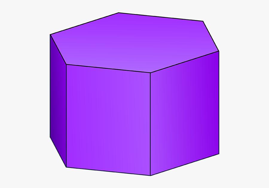 Transparent Geometric Shapes Png - Hexagonal Prism 3d Shape, Transparent Clipart