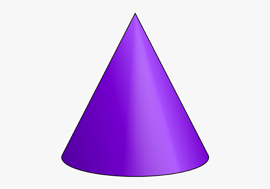 D Geometry Nets Of - 3d Cone Shape Transparent, Transparent Clipart
