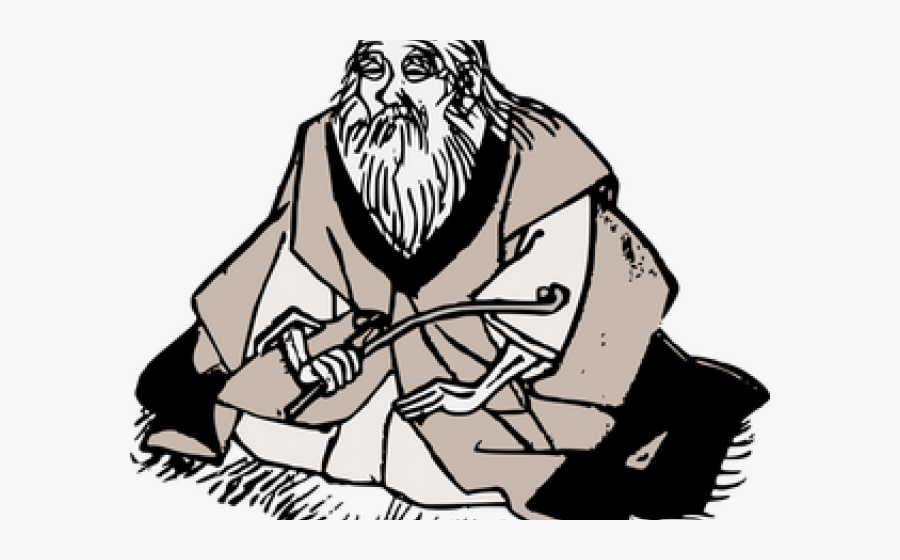 Wise Person Cliparts - Wise Old Man Cartoon, Transparent Clipart