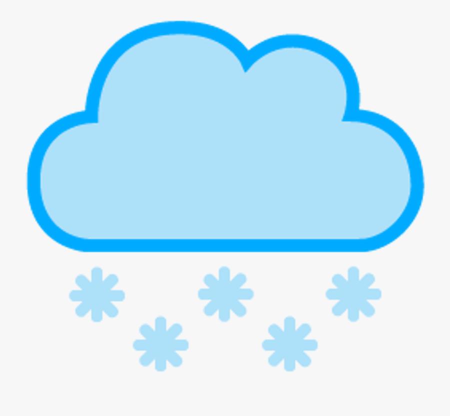 Nube Nieve Cloud Snow Snowing - Raining Clouds Weather Symbols, Transparent Clipart