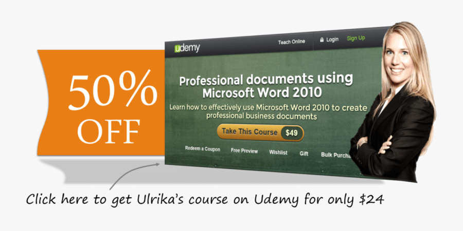 50 Percent Off Udemy Word Course - Online Advertising, Transparent Clipart