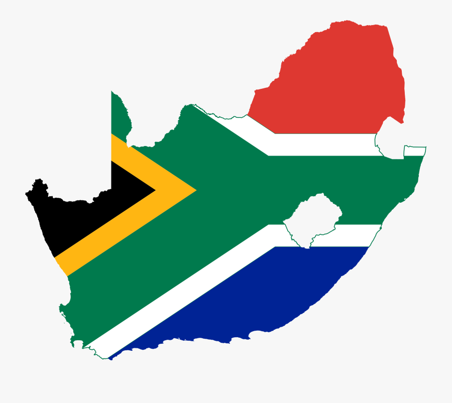 South Africa Flag Map, Transparent Clipart