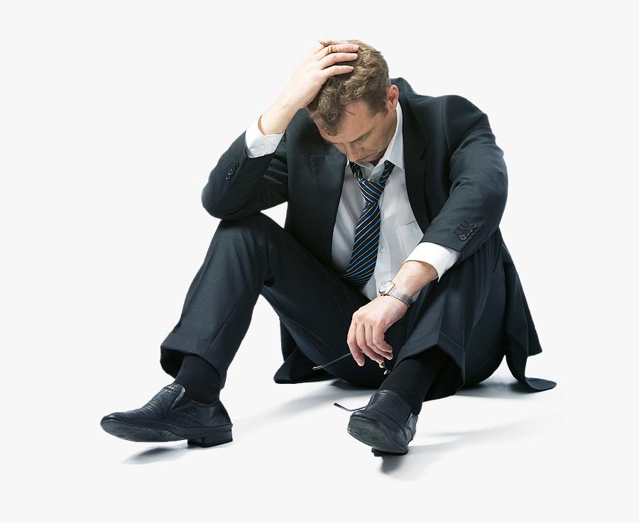 Sad Guy In Suit, Transparent Clipart
