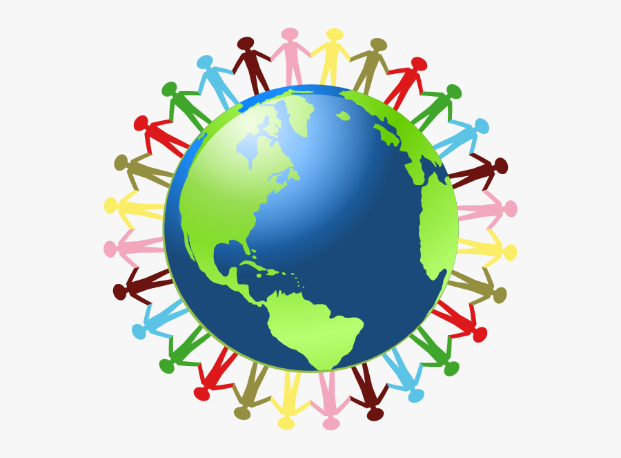 Clipart World - Photo - People Around The World, Transparent Clipart