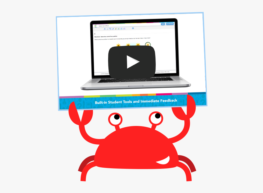 Good Clipart Award Student - Study Island Crab Gif, Transparent Clipart