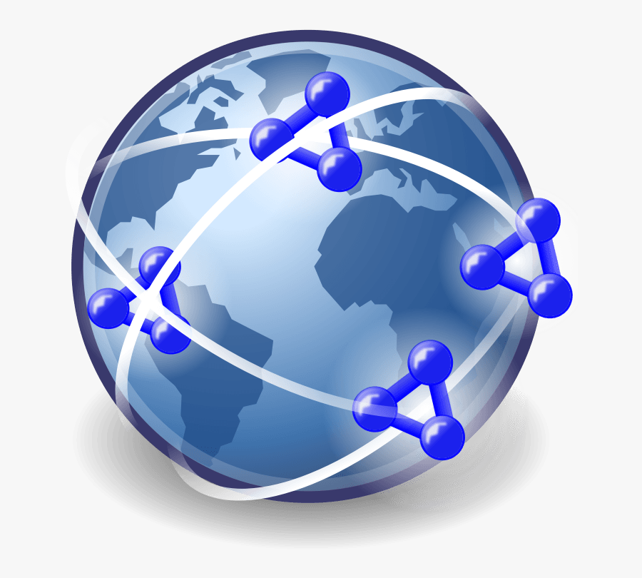 Blue World Map - Free World Wide Web Icon, Transparent Clipart