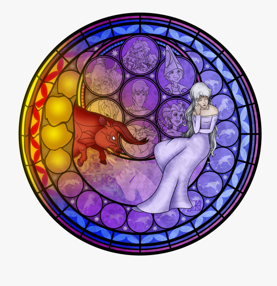 Last Unicorn Stained Glass - Disney Jasmine Stained Glass, Transparent Clipart