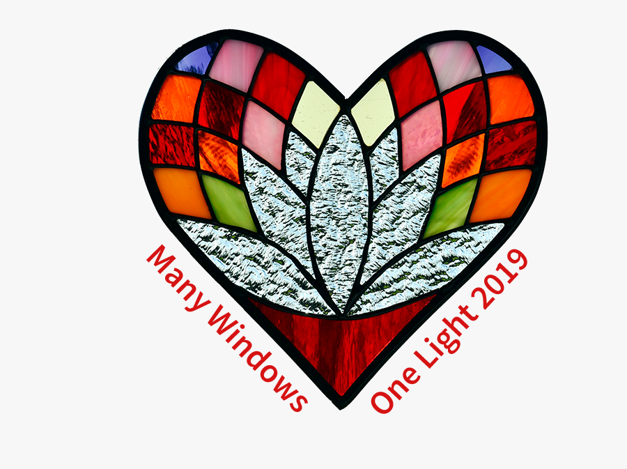 Transparent Kwanzaa Candles Png - Stained Glass Windows Shaped As Heart, Transparent Clipart