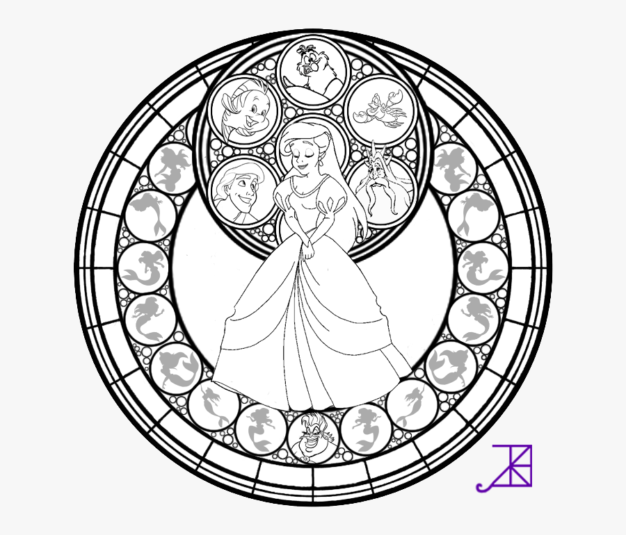 Stained Glass Coloring Pages Adult - Stained Glass Disney Coloring Pages  For Adults , Free Transparent Clipart - ClipartKey