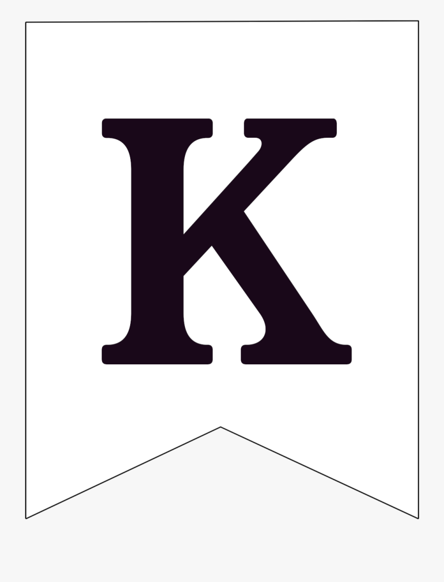 Free Printable Black And White Pennant Banner Letter - Kings Mountain High School Logo, Transparent Clipart