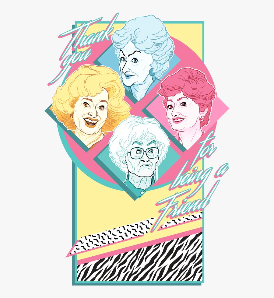 Golden Girls Graphic, Transparent Clipart
