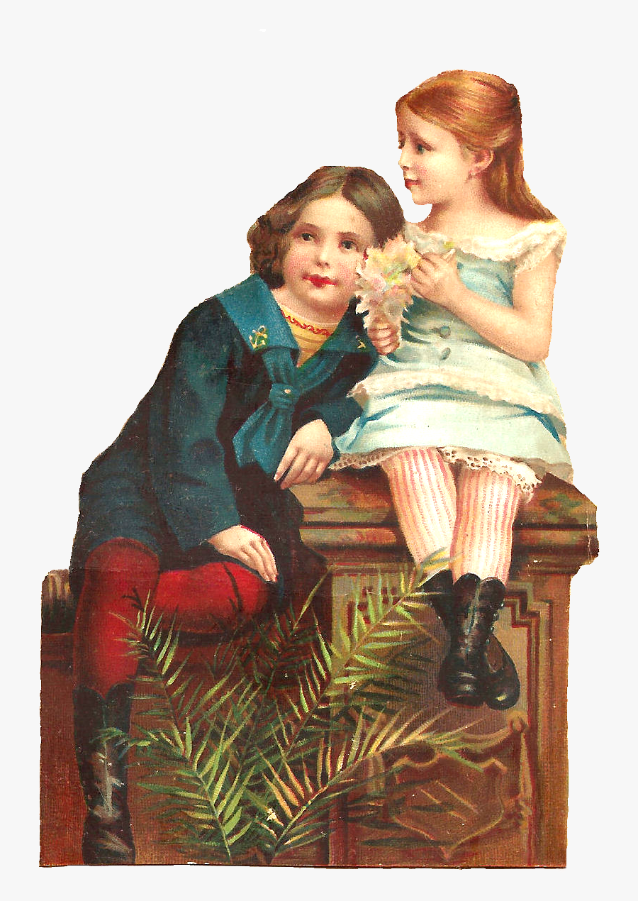 Transparent Golden Girls Clipart - Victorian Scrap Png, Transparent Clipart
