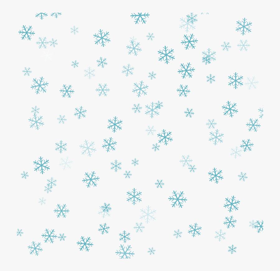 Blue Snowflake Background Png Download - Snowflake Pattern Png Transparent, Transparent Clipart