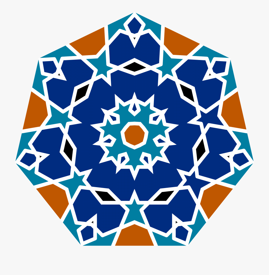Islamic Clipart Png - Geometric Islamic Tile Design, Transparent Clipart