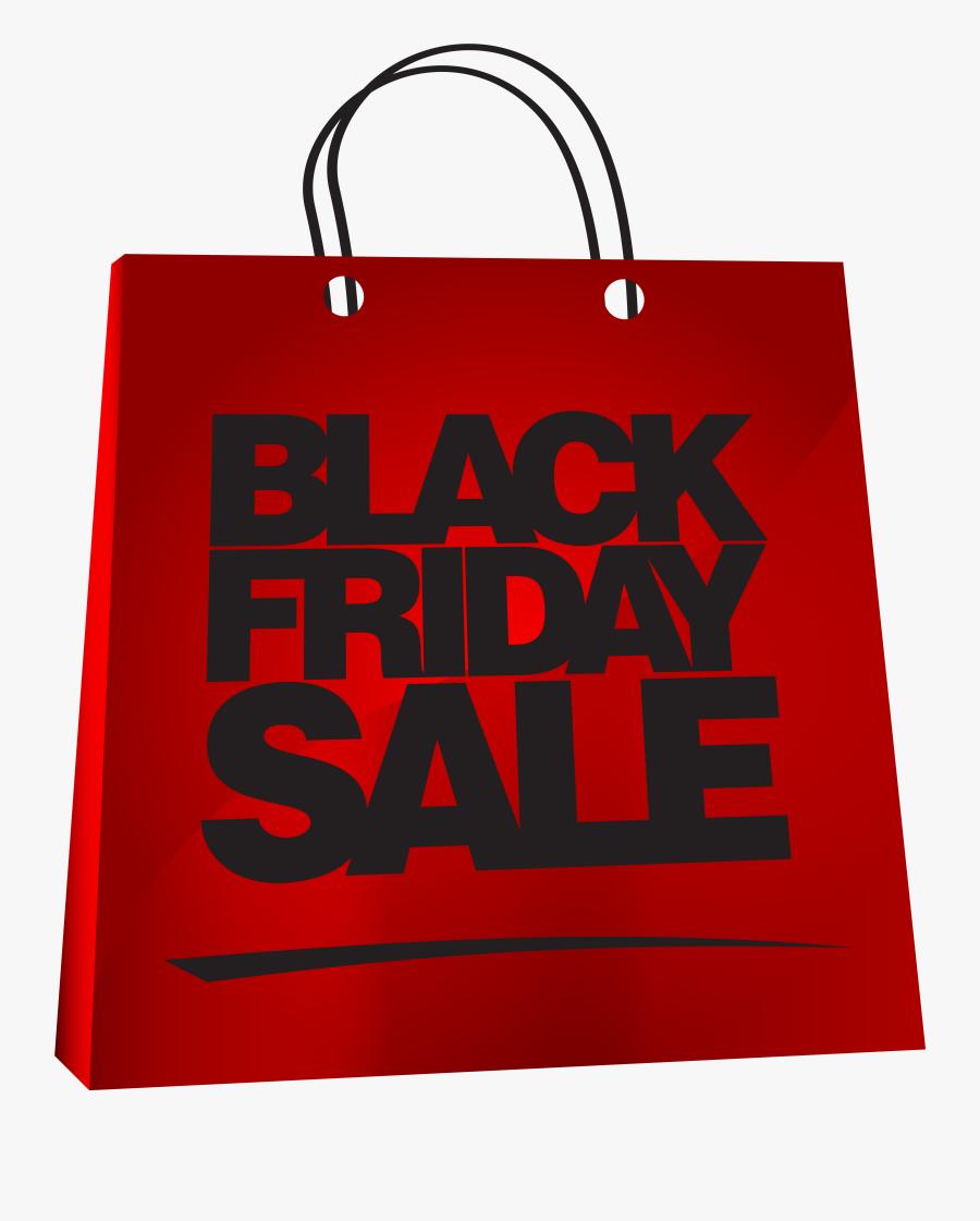 Clip Art Black Friday Gift Bag Clipart On Transparent - Black Friday Sale For Bags, Transparent Clipart