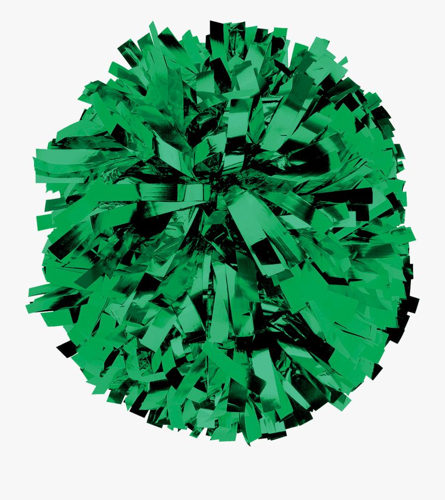 Image Result For Solid Metallic In Stock Pom Green - Orange Cheer Pom Poms, Transparent Clipart