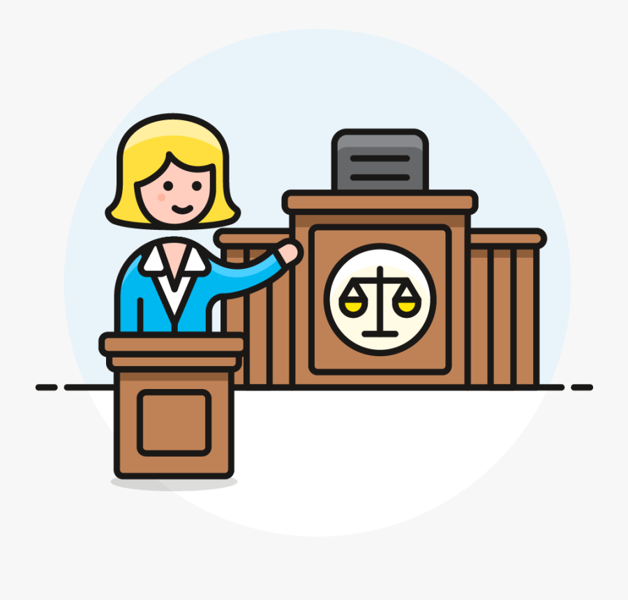 Icon Image Creator Pushsafer - Lawyer In Court Clipart, Transparent Clipart