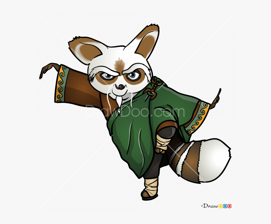 Clip Art How To Draw Master - Kung Fu Panda All Master, Transparent Clipart