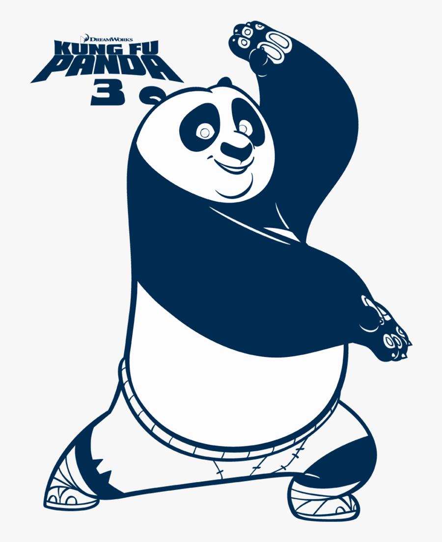 Kung Fu Panda Fighting Stance Youth T Shirt - Kung Fu Panda Colour, Transparent Clipart