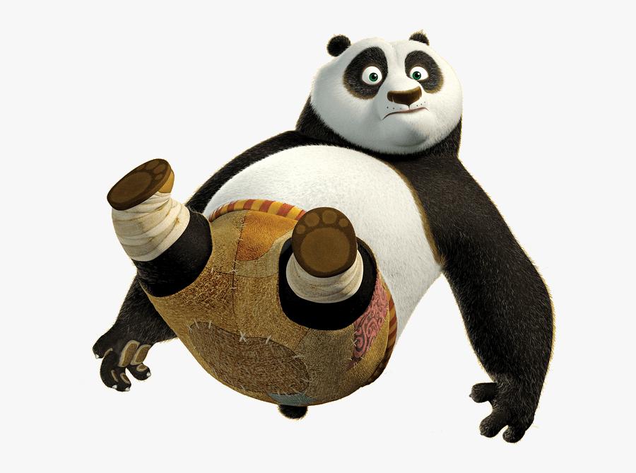 Po Giant Panda Master Shifu Kung Fu Panda - Po Kung Fu Panda Transparent, Transparent Clipart