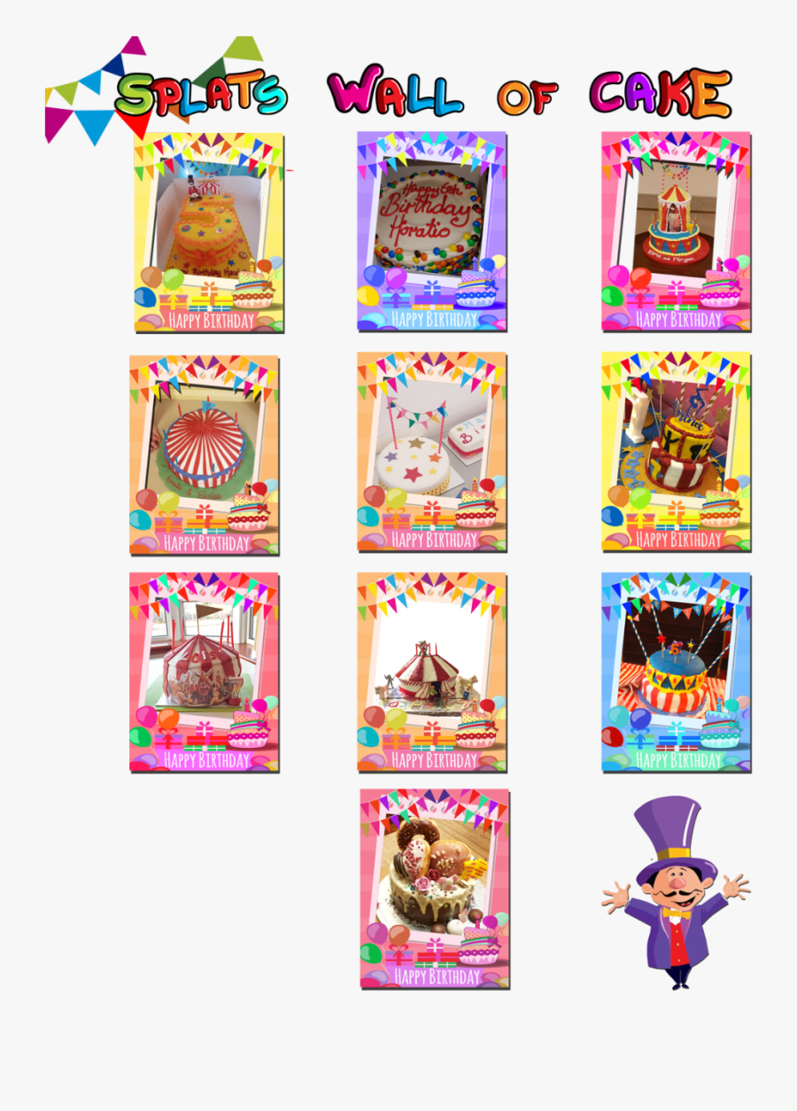 Circus Birthday Cakes Splats Entertainment Newest March, Transparent Clipart