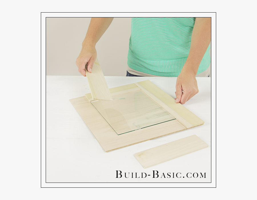 Diy Burlap Picture Frame By Build Basic Step - Plywood, Transparent Clipart