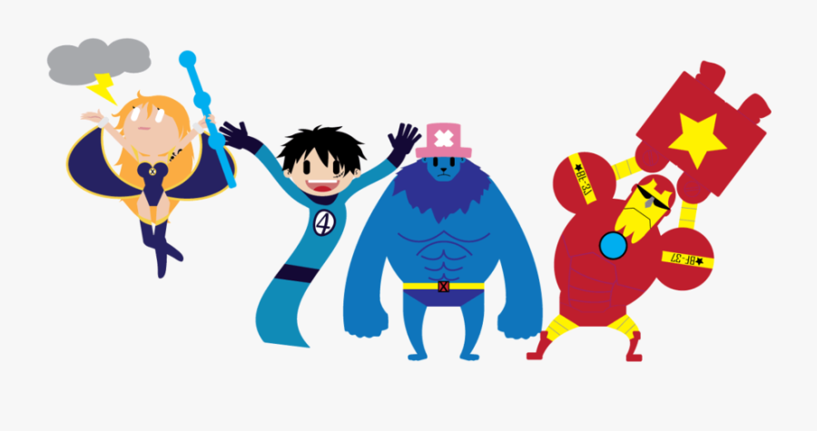 Png Transparent X One Piece Demo By Silverfox On - One Piece X Marvel, Transparent Clipart