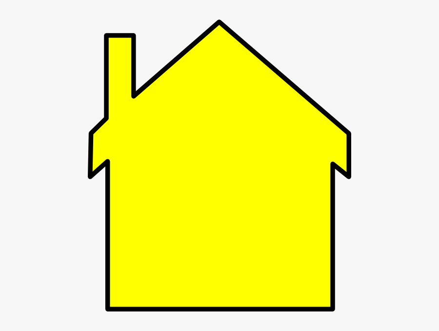 Yellow House Outline Clip Art At Clker - House Logo Black And Yellow , Free  Transparent Clipart - ClipartKey