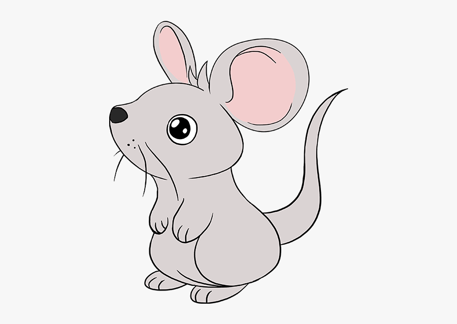 Clip Art How To Draw A - Draw A Cartoon Mouse, Transparent Clipart