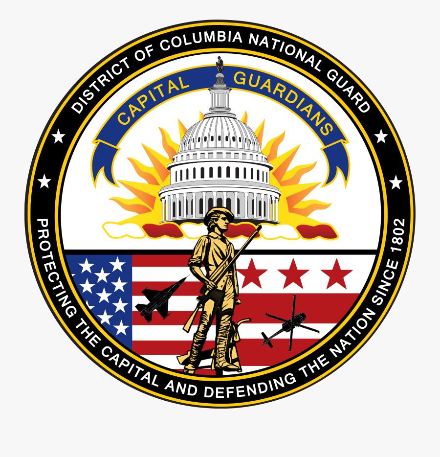 Dcng Seal - Dc National Guard Symbol, Transparent Clipart