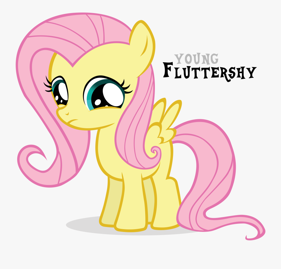 Young Fluttershy Fluttershy Rainbow Dash Pinkie Pie - My Little Pony Young, Transparent Clipart
