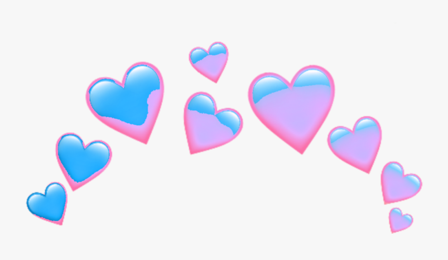 #pink #red #spiral #aesthetic #crown #taç #grid #wings - Emoji Heart Png, Transparent Clipart