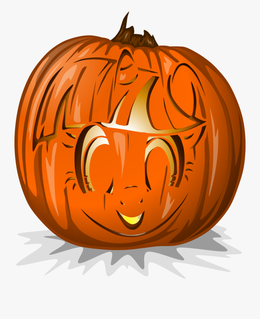 Transparent Pumpkin Clipart Transparent Background - Jack-o'-lantern, Transparent Clipart