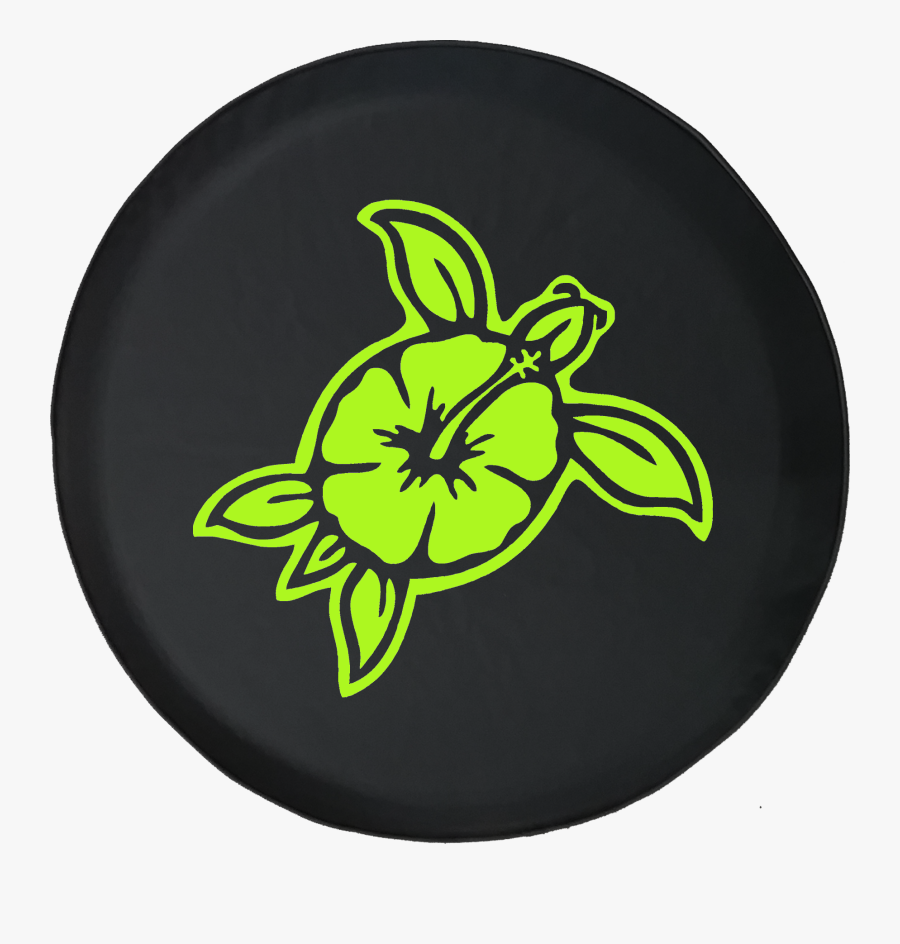 Hawaiian Sea Turtle Island Flower Ocean Life - Hawaiian Flowers Car Stickers, Transparent Clipart