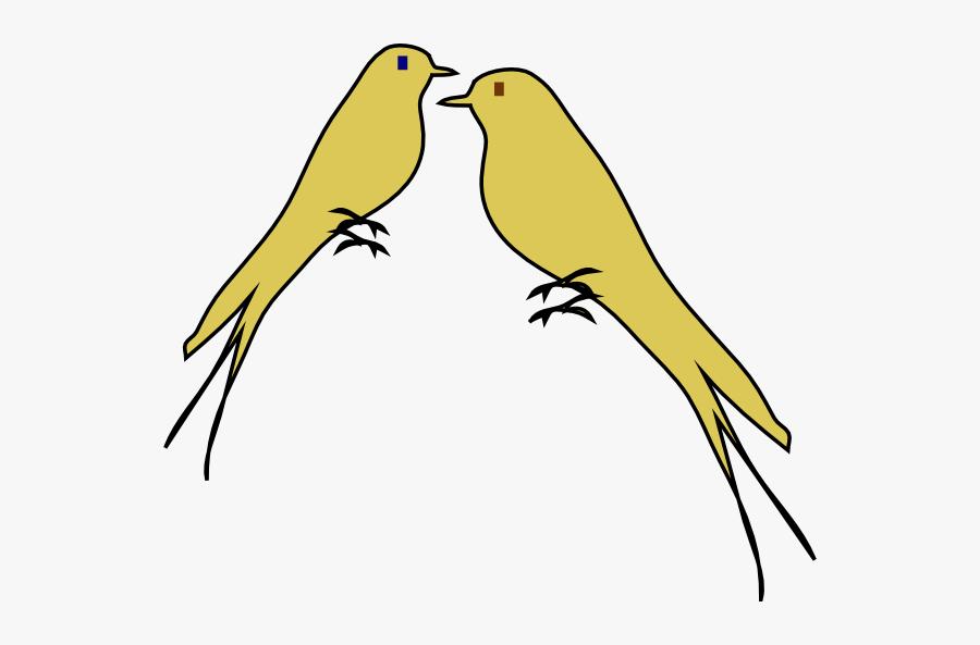 Gold Love Birds Clipart, Transparent Clipart
