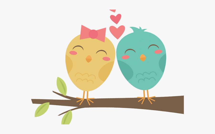 Transparent Vintage Love Birds Clipart - Bird Png Cartoon, Transparent Clipart